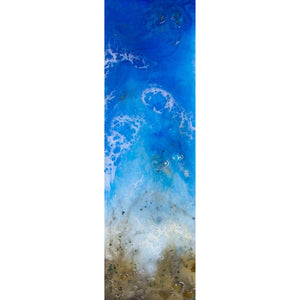 "Bring the northern California coast home with ""Rocky Shores"" by Kathryn Silvera, an original resin painting - Kathryn Silvera Art"