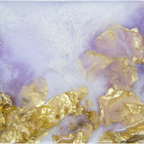 "Bring a piece of lilac peace home ""Gold Fall"" by Kathryn Silvera, an original resin painting - Kathryn Silvera Art"