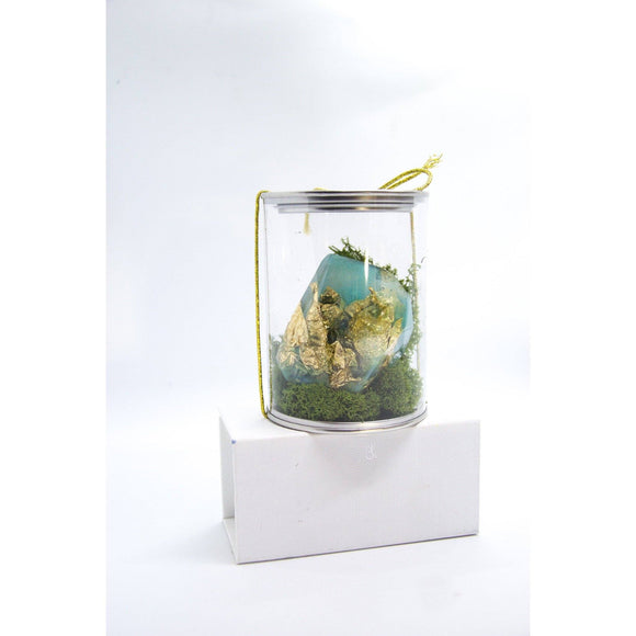 Bring home a handmade resin crystal with Gold Leaf by Kathryn Silvera, an original mini sculpture - Kathryn Silvera Art