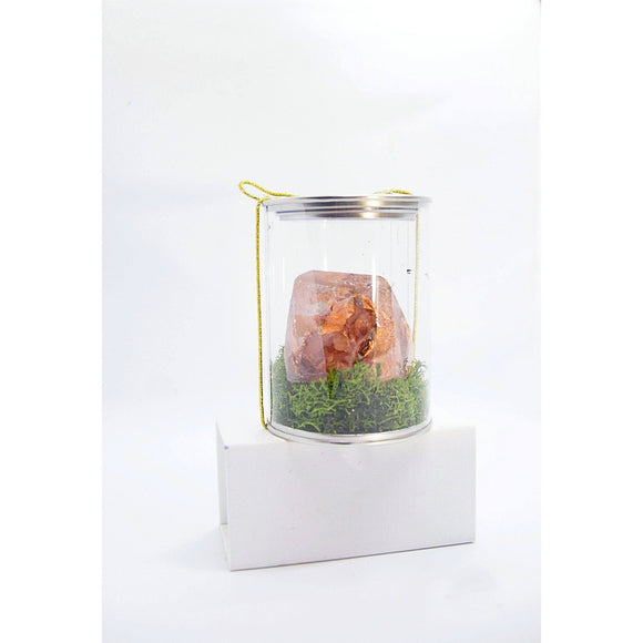 Bring home a handmade resin crystal with Rose Leaf by Kathryn Silvera, an original mini sculpture - Kathryn Silvera Art