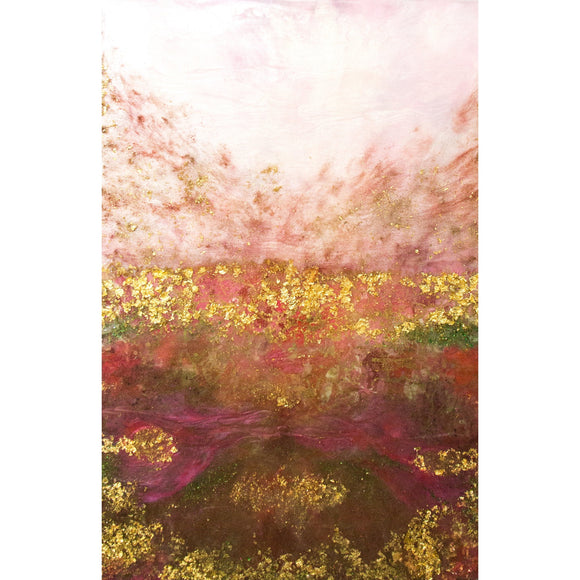 "Bring home nature and romance with ""My Love, Bursting"" by Kathryn Silvera, an original resin painting - Kathryn Silvera Art"