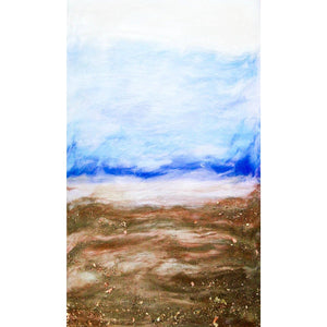 "Bring a view of Montana's ""big sky"" country home with ""Stasis and Change"" by Kathryn Silvera, an original resin painting - Kathryn Silvera Art"