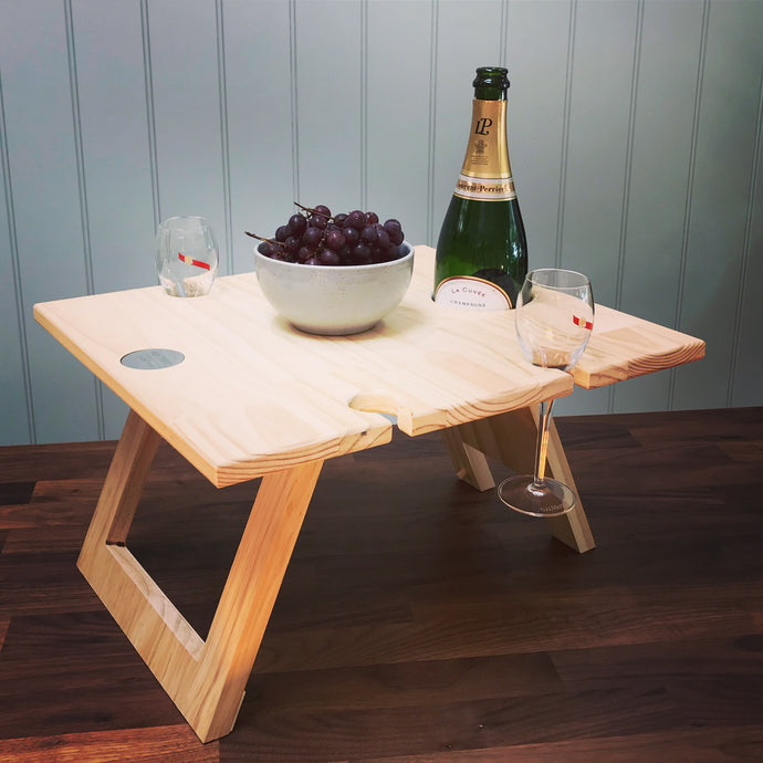 Folding Wine Table 4 Glass