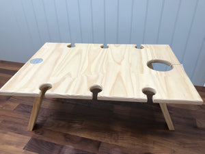 Folding Wine Table 6 Glass