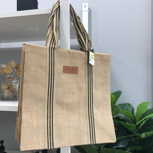 Coated Jute Tote Bag