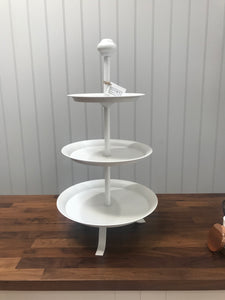 White 3 Tier Stand