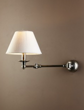 Portland Swing Arm Sconce Base Antique Silver