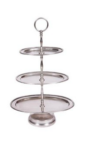 3 Tiered Metal Cake Stand Oval