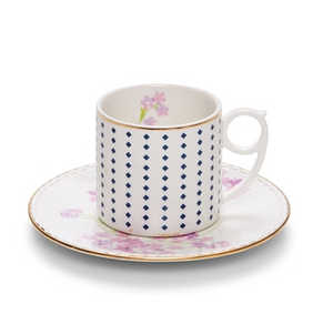 Eclectic 220ml Floral Teacup and Saucer