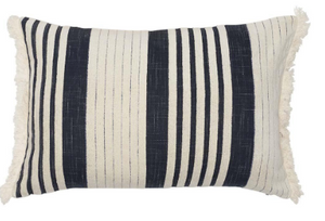 Chilled Cushion Navy White 40x60