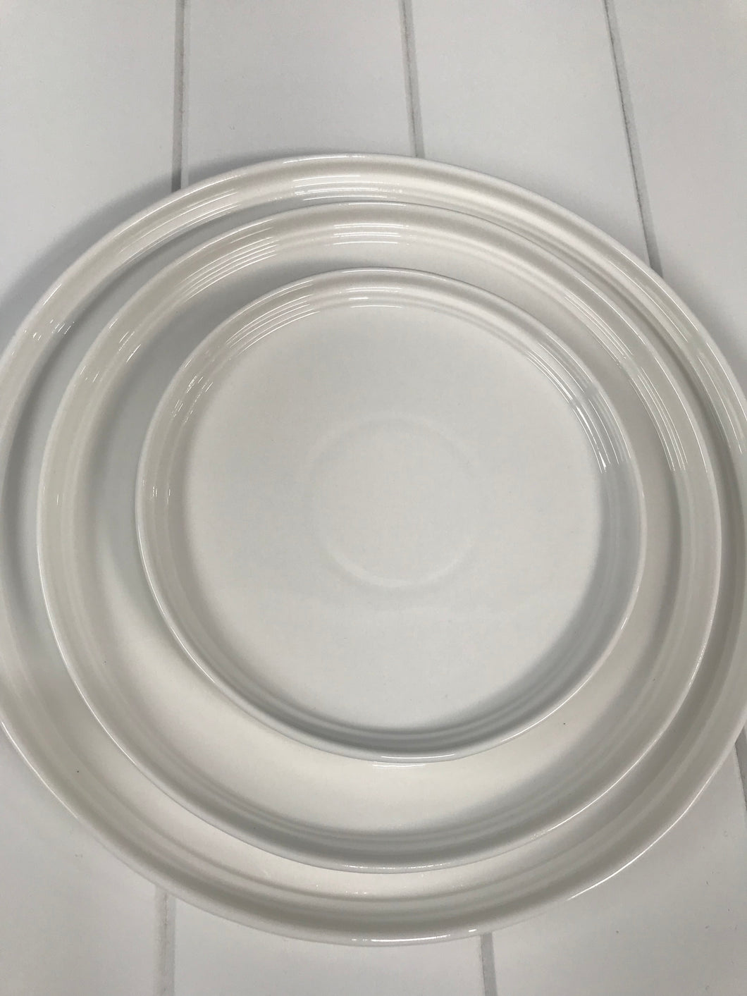Merchant Medium Round Plate White