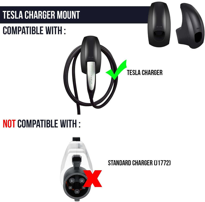 Lectron Charger Mount and Cable Organizer Compatible with Tesla Model X, Model , Model 3, and Model Y