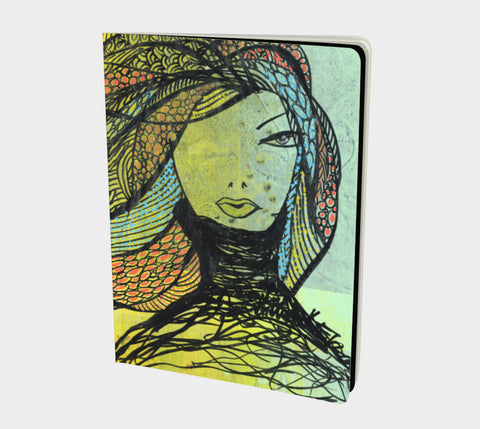 True Colors - Hand-bound All-over printed Notebooks- Sketchbook, Art Journal, Fashion Illustration
