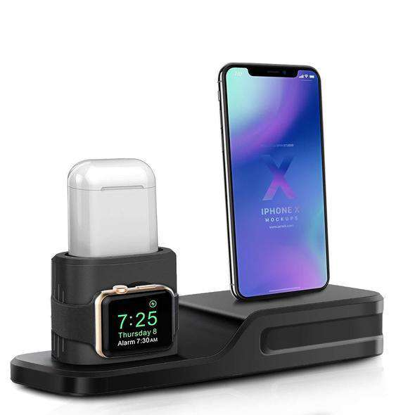 3 in 1 BEACOO Apple Watch Stand Charging Stand Dock Station AirPods Stand Charging Doc