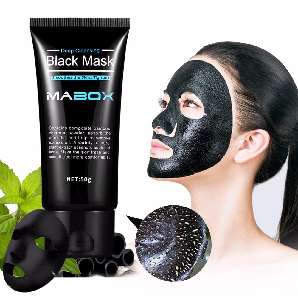 Black Mask Peel Off Bamboo Charcoal Purifying Blackhead Remover Mask Deep Cleansing for Acne Scars Blemishes Wrinkles Facial