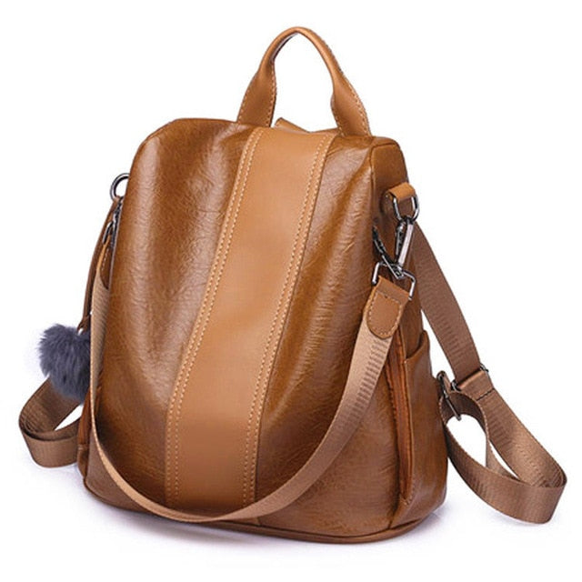 Anti-Theft Two-Way Luxe Leather Bag