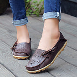 Women's  Genuine Leather - Slip-On - Casual Flat Shoes - Moccasins FREE SHIPPING