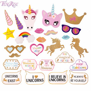 Unicorn Party Decoration Photo Booth Props