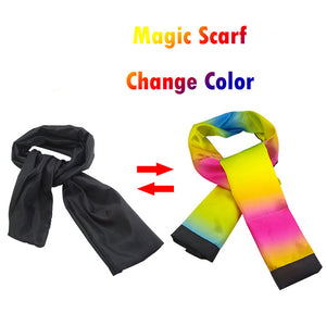 Change Color Scarf Magic Trick-  Props Black to Rainbow