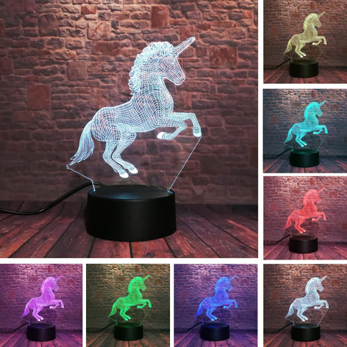 Unicorn 7 Color RGB Night Light