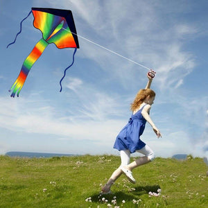 Colorful Rainbow Kite Long Tail