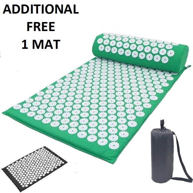 Acupressure Mat With Pillow Set (with additional FREE 1 Mat)