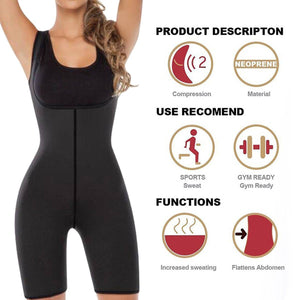 Full Body Shaper Neoprene Slimming Sauna Bodysuit