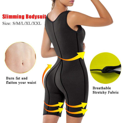Image of Full Body Shaper Neoprene Slimming Sauna Bodysuit
