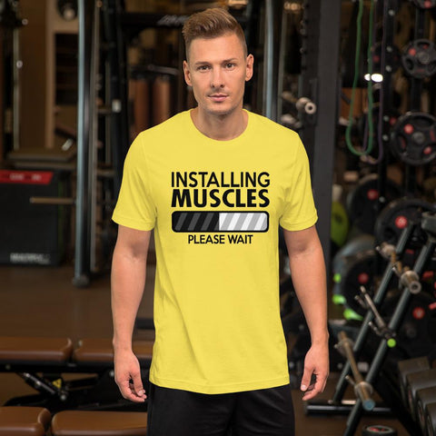 Image of Installing Muscles:  Bella+Canvas Jersey Short-Sleeve Unisex T-Shirt