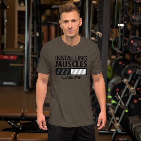 Installing Muscles:  Bella+Canvas Jersey Short-Sleeve Unisex T-Shirt