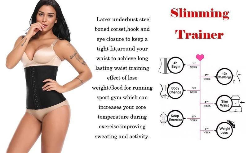 Latex Waist Trainer Corset - Best Shapewear With 9 Spiral Steel Bones