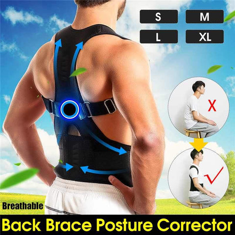 Image of Shaper - Magnetic Therapy Back Brace Posture Corrector Neoprene Back Corset