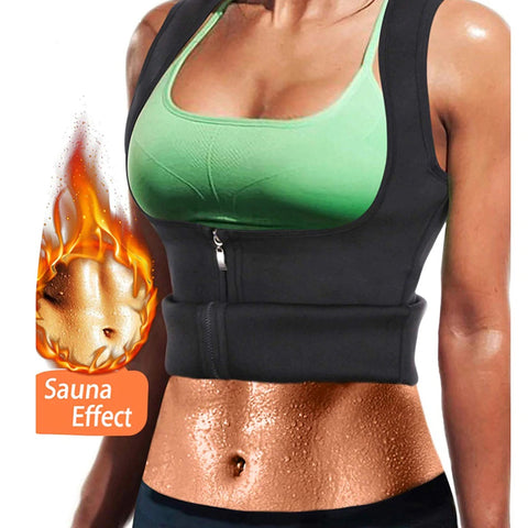 Image of Waist Trainer Sauna Vest Tank Top Zipper