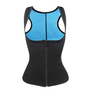 Waist Trainer Sauna Vest Tank Top Zipper