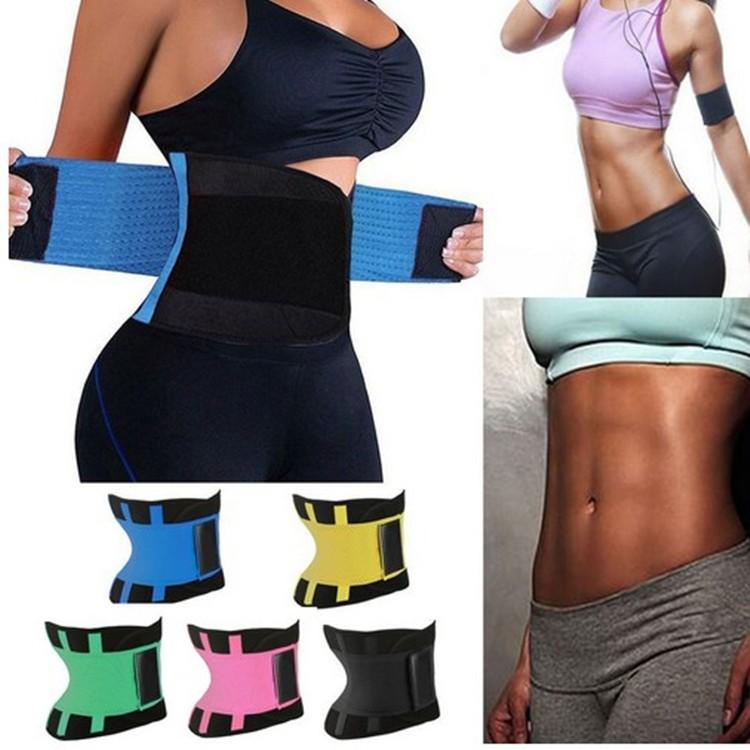 Women Waist Trainer Belt Hot Shaper Belly Wrap Trimmer Slimmer Compression Band for Weight Loss Workout Fitness