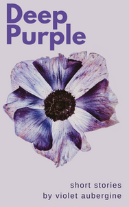 Premade ebook cover with drawing of purple flower on a pale purple background. Bold purple title, small font author name and subtitle.