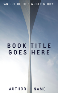 premade ebook cover featuring forced perspective of a structure against a blue sky. Bold all caps title and author name.