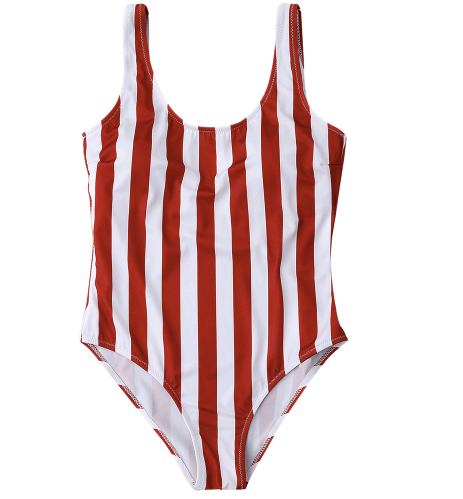 6cb67afcfd EMILY Red and White Stripe One Piece – Sorella Sea