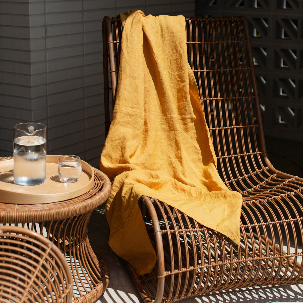 Sunflower Linen Towel