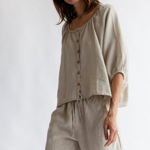 The Moss Button Blouse