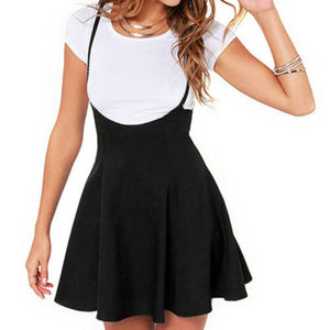 High Waist Strap Mini Skirt