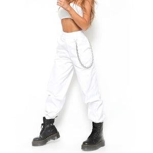 High Waist Harem Pants With Chains - Foxy Fashions