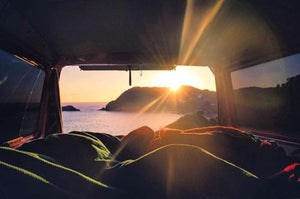 Photo by @simcat22 displaying the beauty and freedom a camper van offers away from the routine of day to day life.