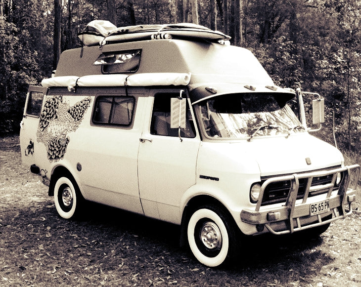 Lovely Morrie the 1977 Bedford van, beautifully converted by Undercover Campers.