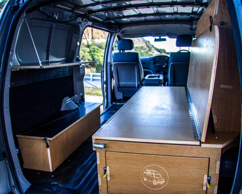 Van box 2.0 folding shelf and wheel arch box