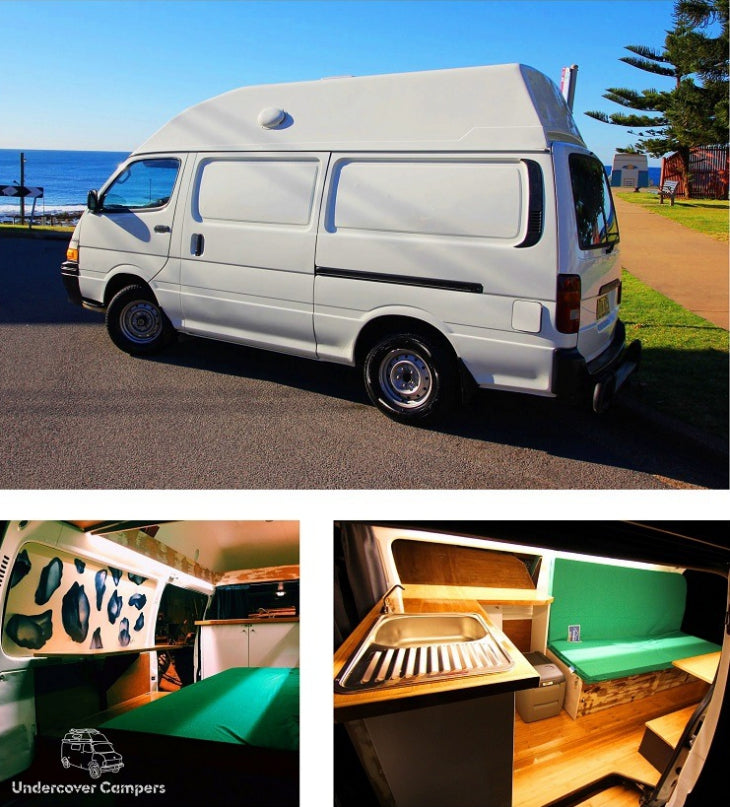 Valerie the Toyota Hiace custom fit out by Undercover Campers.