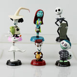 Anime Nightmare Before Christmas Jack PVC doll Action Figures Toy 6pcs/Set - daily stop & shop