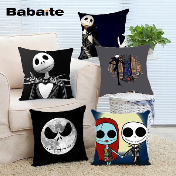 Babaite New Arrival Popular Cartoon Jack Skellington Nightmare Before Christmas Sally Throw Pillowcase Zippered Pillow Cover - daily stop & shop