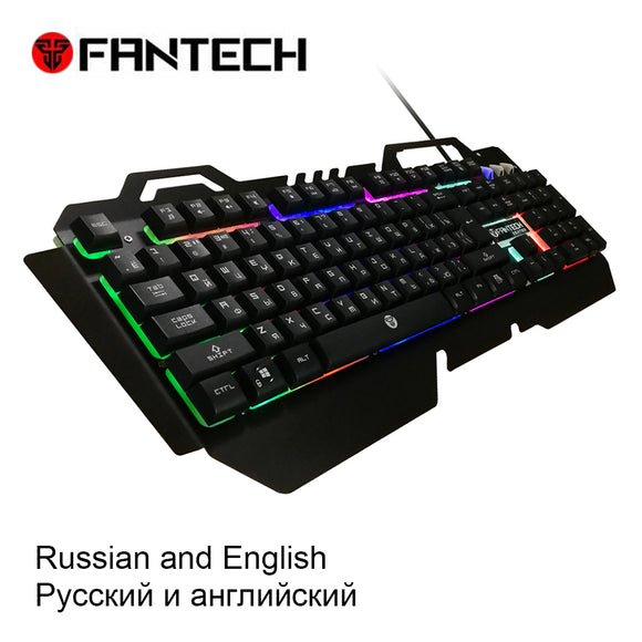 FANTECH K610  Russian and English Membrane Waterprof Gaming Keyboard RGB 104 Keys LED Light Keyboard 19 Key Without Conflict - daily stop & shop