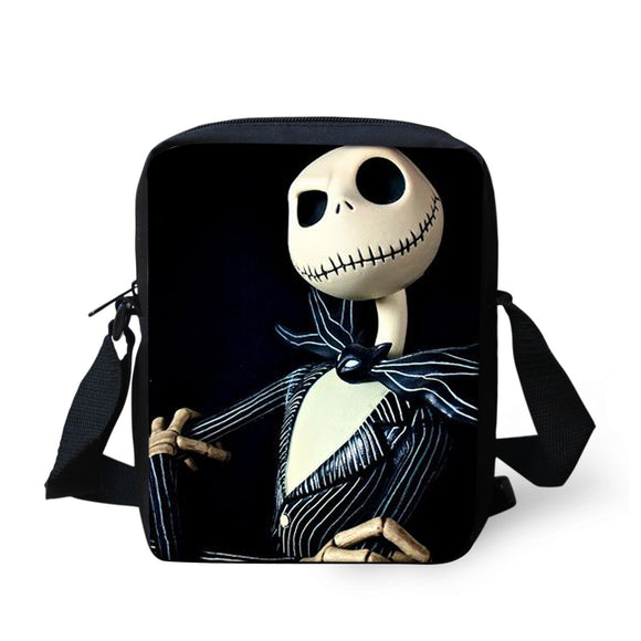 FORUDESIGNS The Nightmare Befor Christmas Bag Jack Skellington Style 2018 New Crossbody Book bag Halloween Casual Case Kid Gift - daily stop & shop